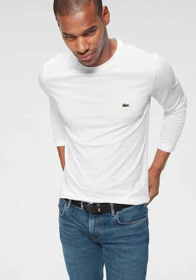 fceb84bfee899b Lacoste Langarmshirt Regular Fit, Jersey Qualität