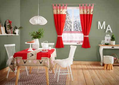 Vorhang »Xaver«, my home, Schlaufen (1 Stück), inkl. Raffhalter