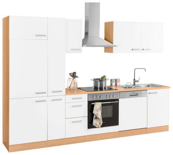 OPTIFIT Küchenzeile »Odense«, Breite 300 cm, inklusive Hanseatic-Elektrogeräten