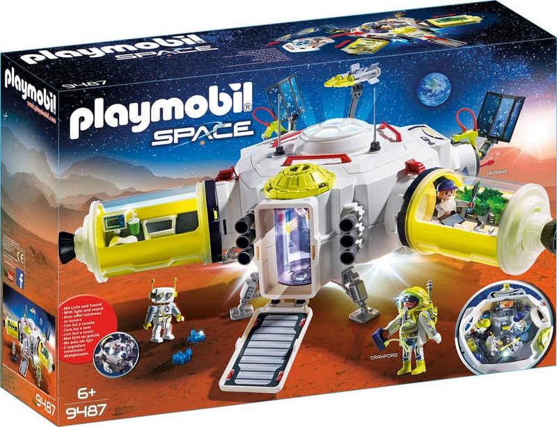 Playmobil® Konstruktions-Spielset »Mars-Station (9487), Space«, mit Licht- und Soundeffekten, Made in Germany
