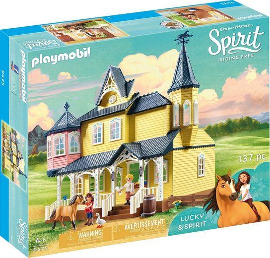 Playmobil® Konstruktions-Spielset »Luckys glückliches Zuhause (9475), Spirit Riding Free«, Kunststoff