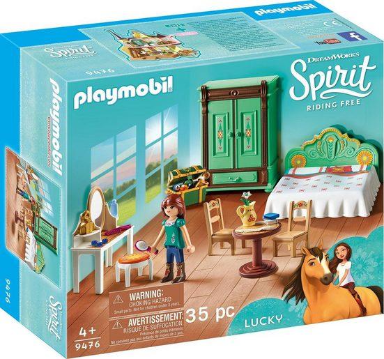Playmobil® Konstruktions-Spielset »Luckys Schlafzimmer (9476), Spirit Riding Free«, Kunststoff