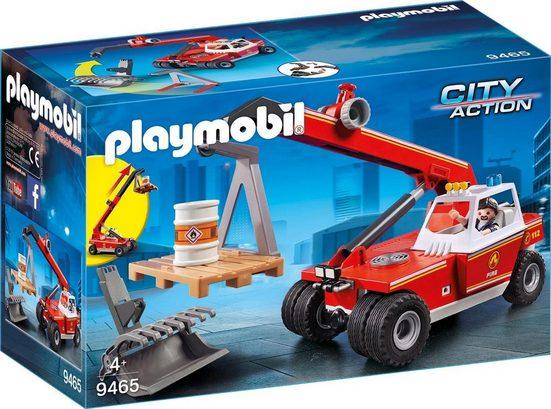 Playmobil® Konstruktions-Spielset »Feuerwehr-Teleskoplader (9465), City Action«, Made in Germany