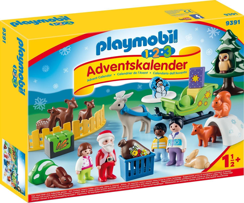 Playmobil® 1.2.3 Adventskalender Waldweihnacht der Tiere (9391), »Christmas«