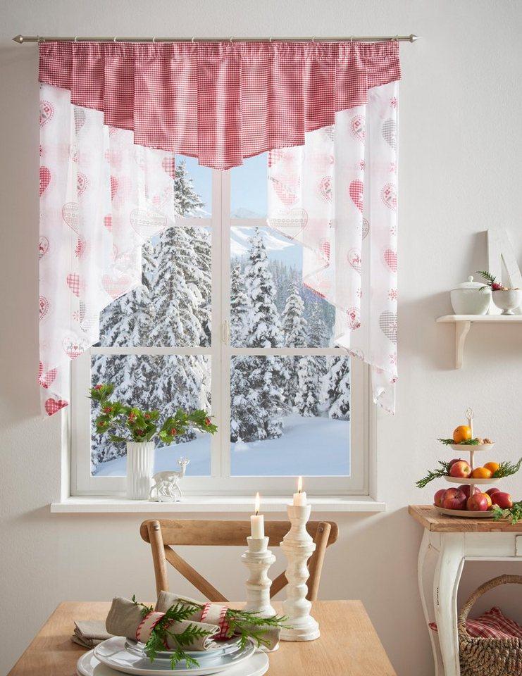 Scheibengardine jule my home kr uselband 1 st ck for Scheibengardine schlafzimmer