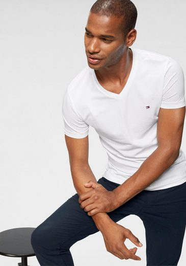 TOMMY HILFIGER T-Shirt »CORE STRETCH SLIM V-NK TEE«