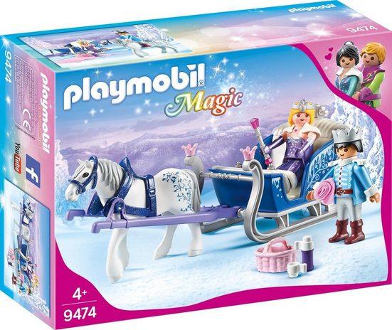 Playmobil® Konstruktions-Spielset »Schlitten mit Königspaar (9474), Magic«