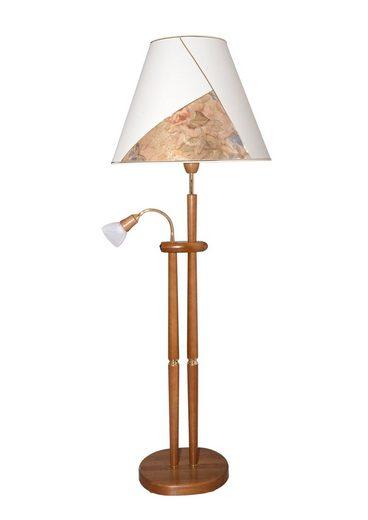 LED Stehlampe, 2-flammig, Mit Leseleuchte