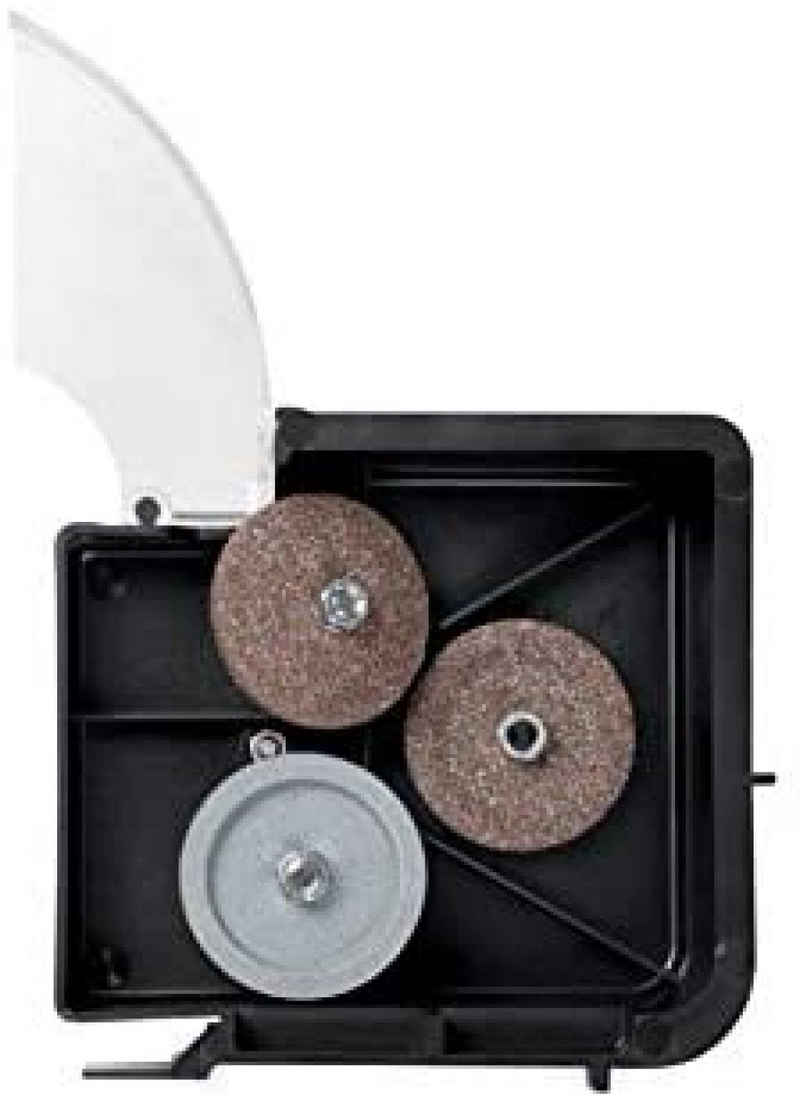 Graef Messerschärfer »PROFI-Messerschärfer 1006«, Scheiben-Messerschärfer, Messer, Ersatzschärfstein, schwarz