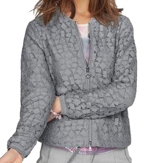 bianca Blousonjacke »bianca. Stella Blouson-Jacke designer Damen Blazer mit durchbrochenem Muster Freizeit-Jacke Grau«