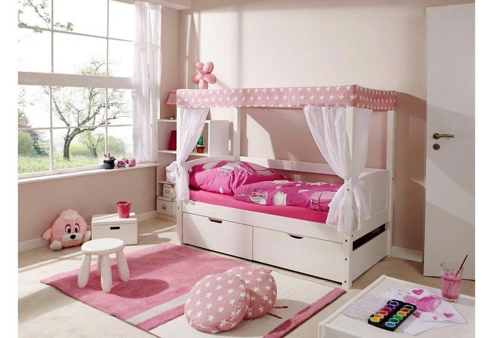 ticaa einzel himmelbett lino liegefl che 80x160 cm. Black Bedroom Furniture Sets. Home Design Ideas
