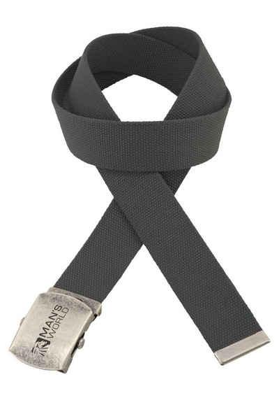 c31d39e2a08a78 Man's World Stoffgürtel Textilbandgürtel mit Koppelschließe