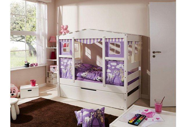 Ticaa Kinderbett in Hausoptik Lio aus massiver Kiefer Liegefläche 80×160 cm  | 04251105929123