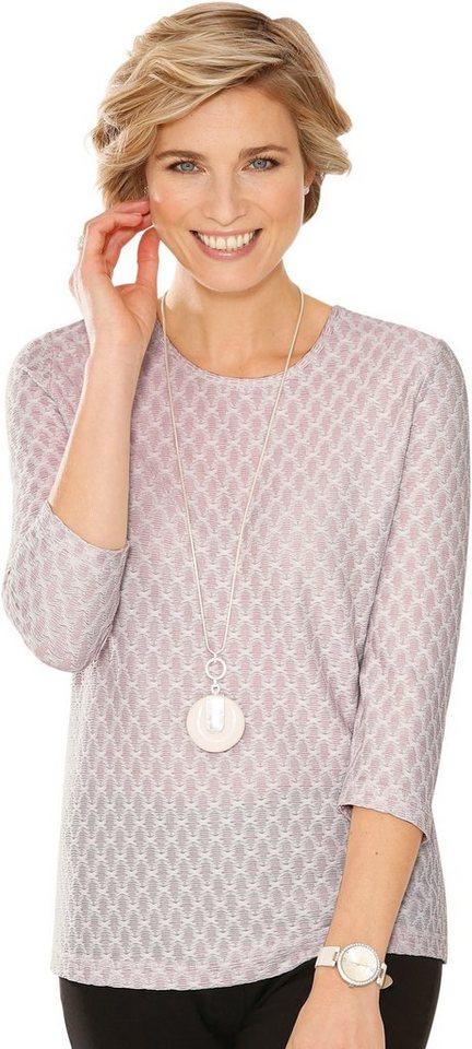 Damen Classic Shirt im dezent gemusterten Jacquard-Dessin rosa | 08935267281881