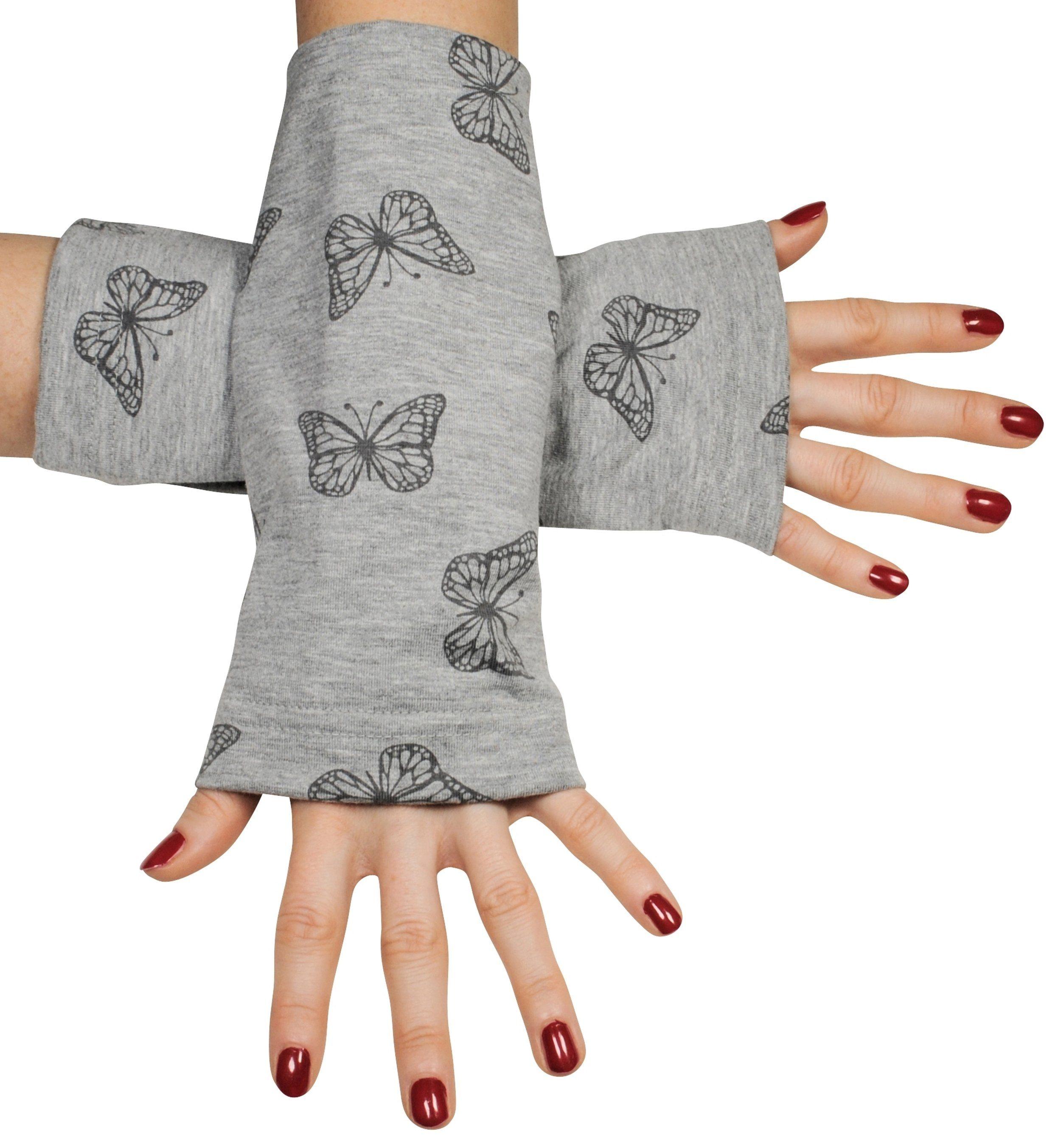 Simone Erto Armstulpen »Schmetterling« handgefertigte Stulpen mit Schmetterlingen