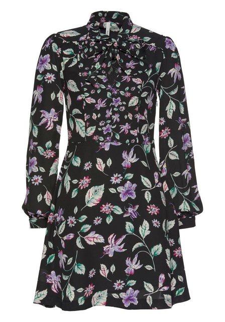 Pepe Jeans Druckkleid »CINDA« mit Schluppendetail und Blumenprint | Bekleidung > Kleider > Druckkleider | Pepe Jeans