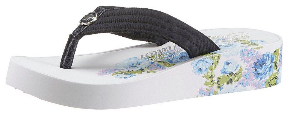newest collection 22f02 315cb TOM TAILOR Zehentrenner mit sommerlichem Blumendruck online kaufen | OTTO