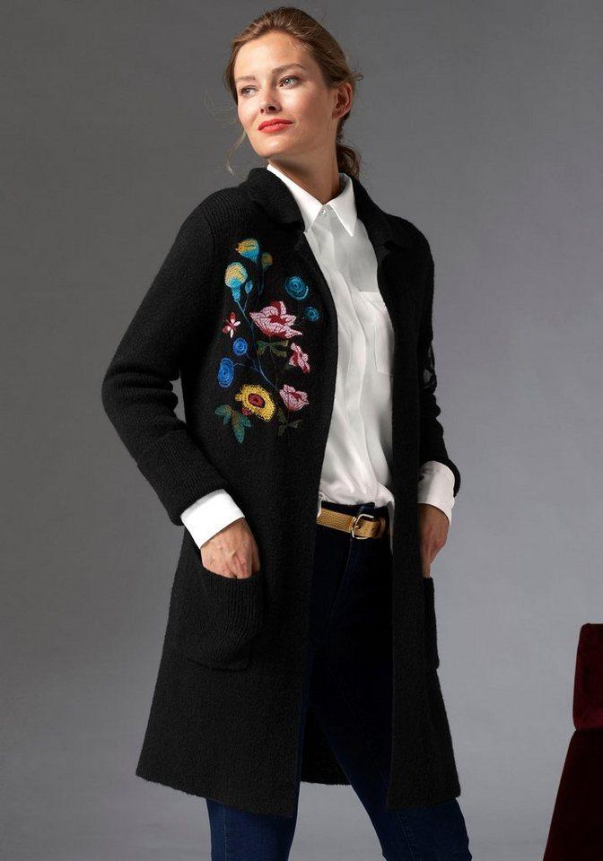 Damen GUIDO MARIA KRETSCHMER Cardigan im Trachten-Design schwarz | 06926033763849