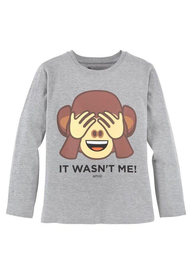 huge selection of 34900 a2579 Emoji Langarmshirt mit tollem Druck und Slogan