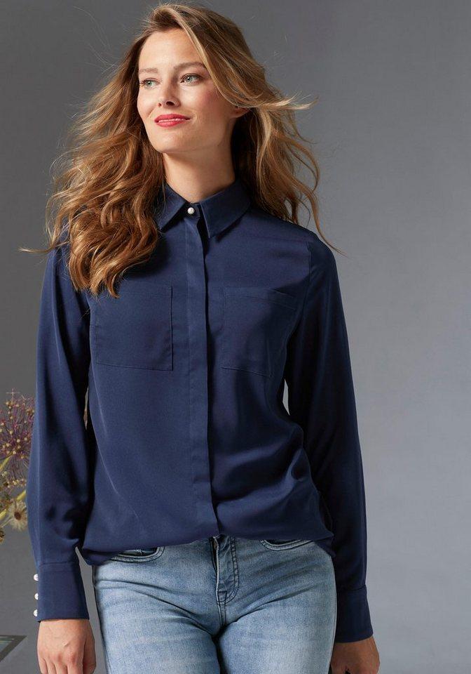 guido maria kretschmer klassische bluse trend zierperlen besatz online kaufen otto. Black Bedroom Furniture Sets. Home Design Ideas
