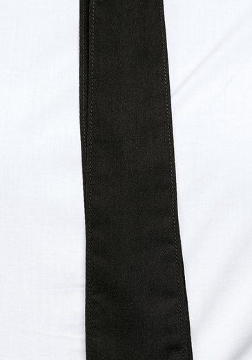 Schleifenband G Mit Raw Shirt« Hemdbluse Bow star »core Schwarzem Slim RwBqgPzR