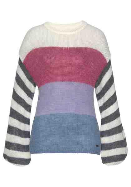 Pepe Jeans Strickpullover »ERICA« im bunten Colorblocking mit Wolle