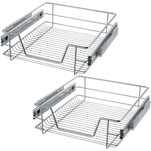 tectake Schublade »2 Teleskopschubladen für Küchen- und«