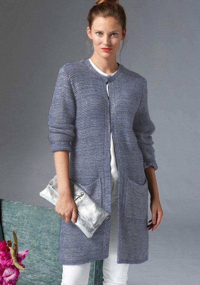 Damen GUIDO MARIA KRETSCHMER Cardigan mit metallisiertem Garn blau | 06926033763771