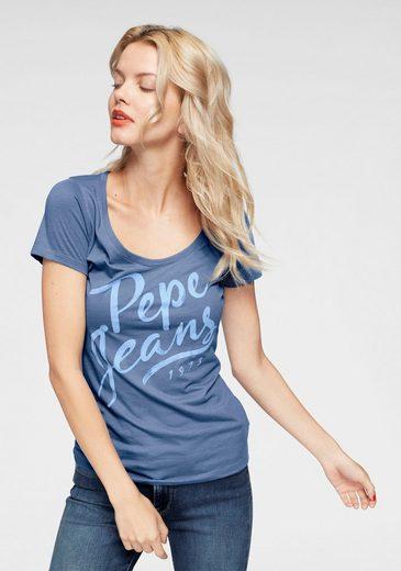 Pepe Jeans T-Shirt »ANDREA« mit großem Druck auf der Vorderseite
