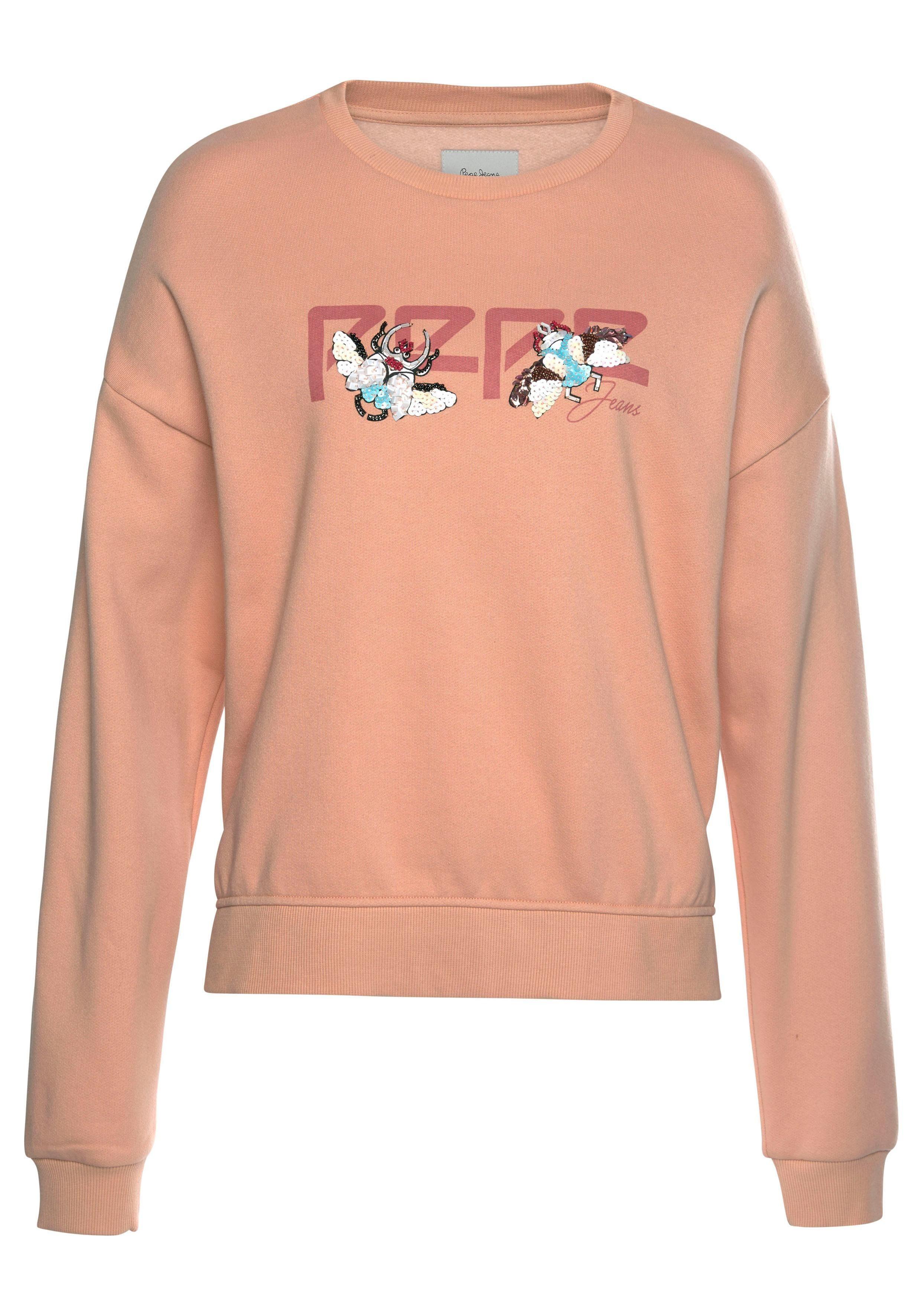 Kaufen Sweater Paillettenamp; Zierperlen Jeans Online Pepe Logo »joana« applikation Mit kXPiuOZT
