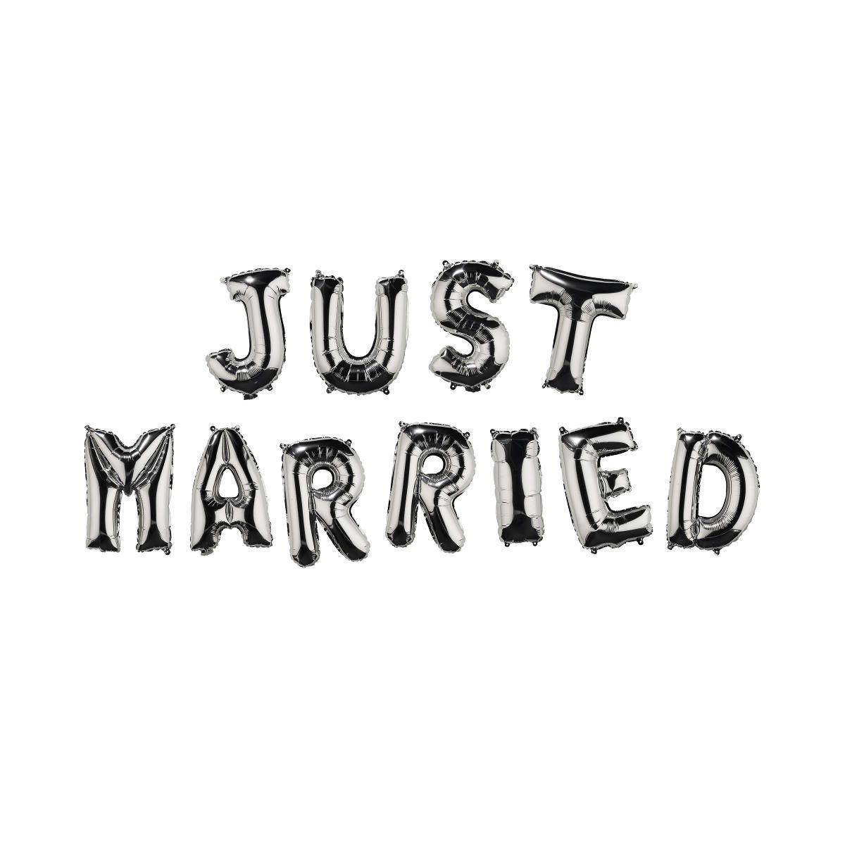"""BUTLERS UPPER CLASS »Folienballon """"Just Married""""«"""