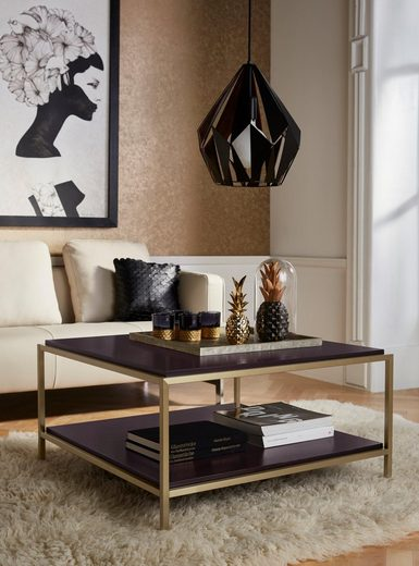 Leonique Couchtisch »Cherlen«, in zwei verschiedenen Farben, mit einer fest montierten Tischplatte