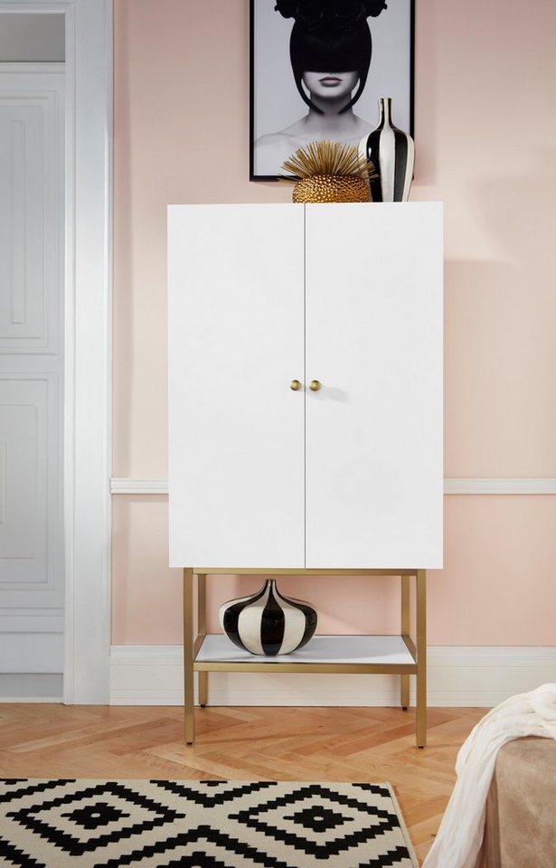 leonique barschrank gambia mit zwei t ren und soft close funktion mit holzgriffen h he 150. Black Bedroom Furniture Sets. Home Design Ideas