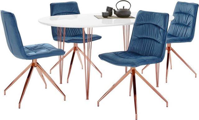 Essgruppen - Essgruppe »Elliot2 Zoe«, (Set, 5 tlg), 4 Stühle und 1 Tisch mit Breite 160 cm  - Onlineshop OTTO