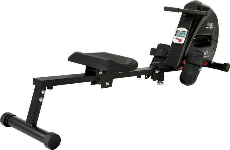 Christopeit Sport® Rudergerät »Cambridge II Black Edition«, Ruderschiene platzsparend hochklappbar