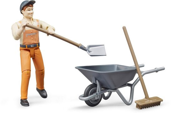 Bruder® Spielfigur »Kommunalarbeiter«, (Set)