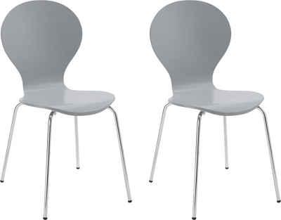 072483c48cb155 my home Stuhl »Modena« im 2er oder 4er Set, mit schönem Metallgestell,