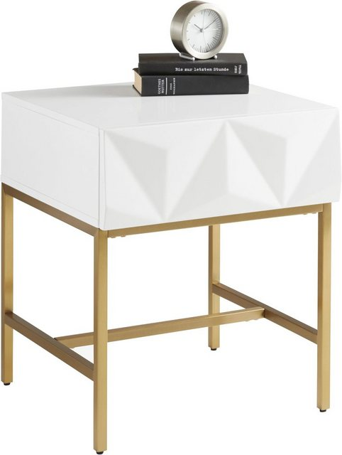 Wohnzimmertische - Leonique Beistelltisch »Minfi«, mit einer Schublade und schöner Schubladenfront, Breite 50 cm  - Onlineshop OTTO