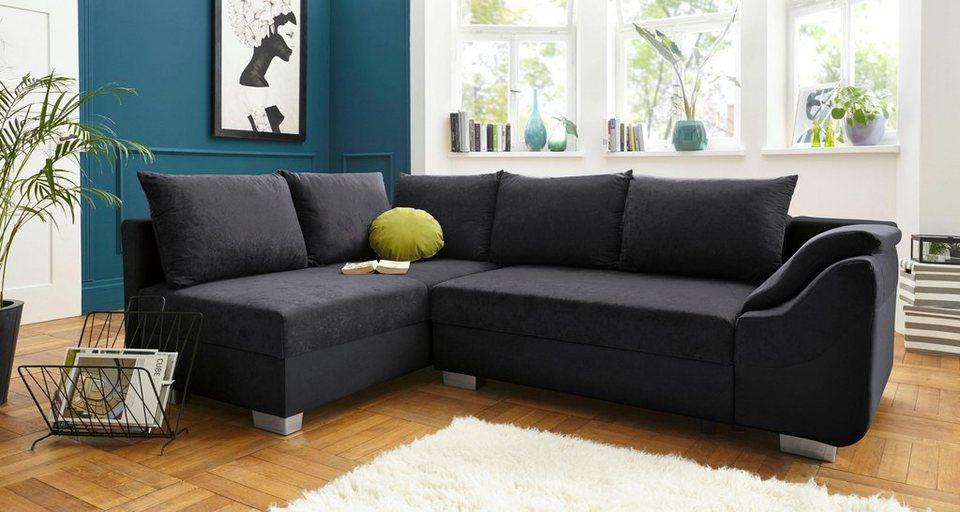 collection ab polsterecke inklusive bettfunktion und bettkasten ottomane links oder rechts. Black Bedroom Furniture Sets. Home Design Ideas
