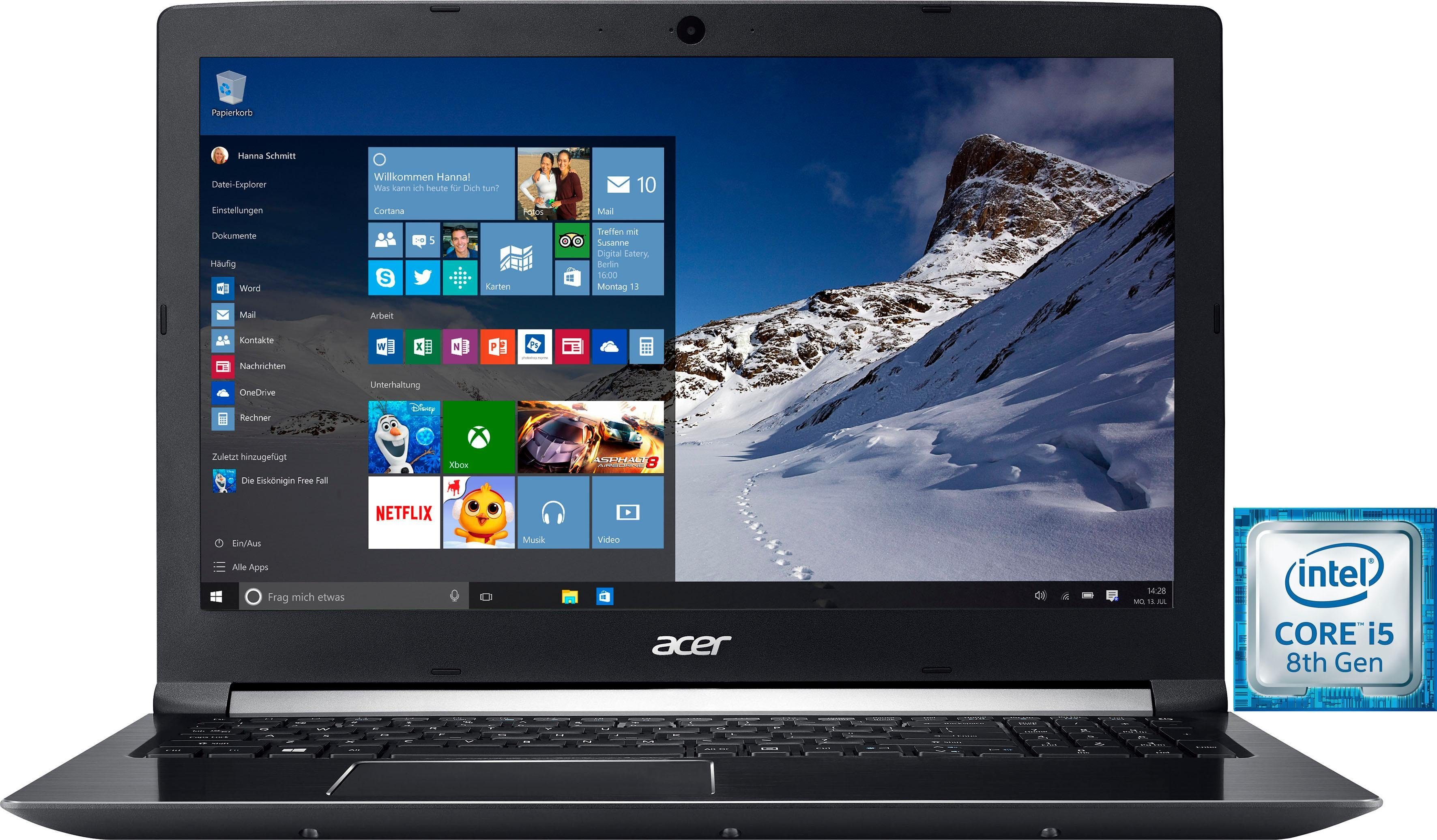 Acer A715-72G-517N Notebook (39,6 cm/15,6 Zoll, Intel Core i5, 1000 GB HDD, 256 GB SSD, inkl. Office 365 Personal (ESD)