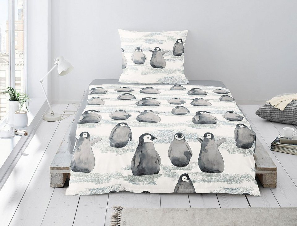Bettwäsche Dublin 8638 Irisette Mit Pinguinmotiven Online Kaufen