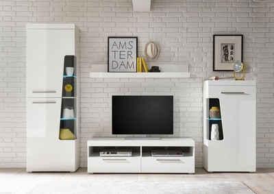 Wohnwand design holz  Massivholz Wohnwand kaufen » Holz & Holzoptik | OTTO
