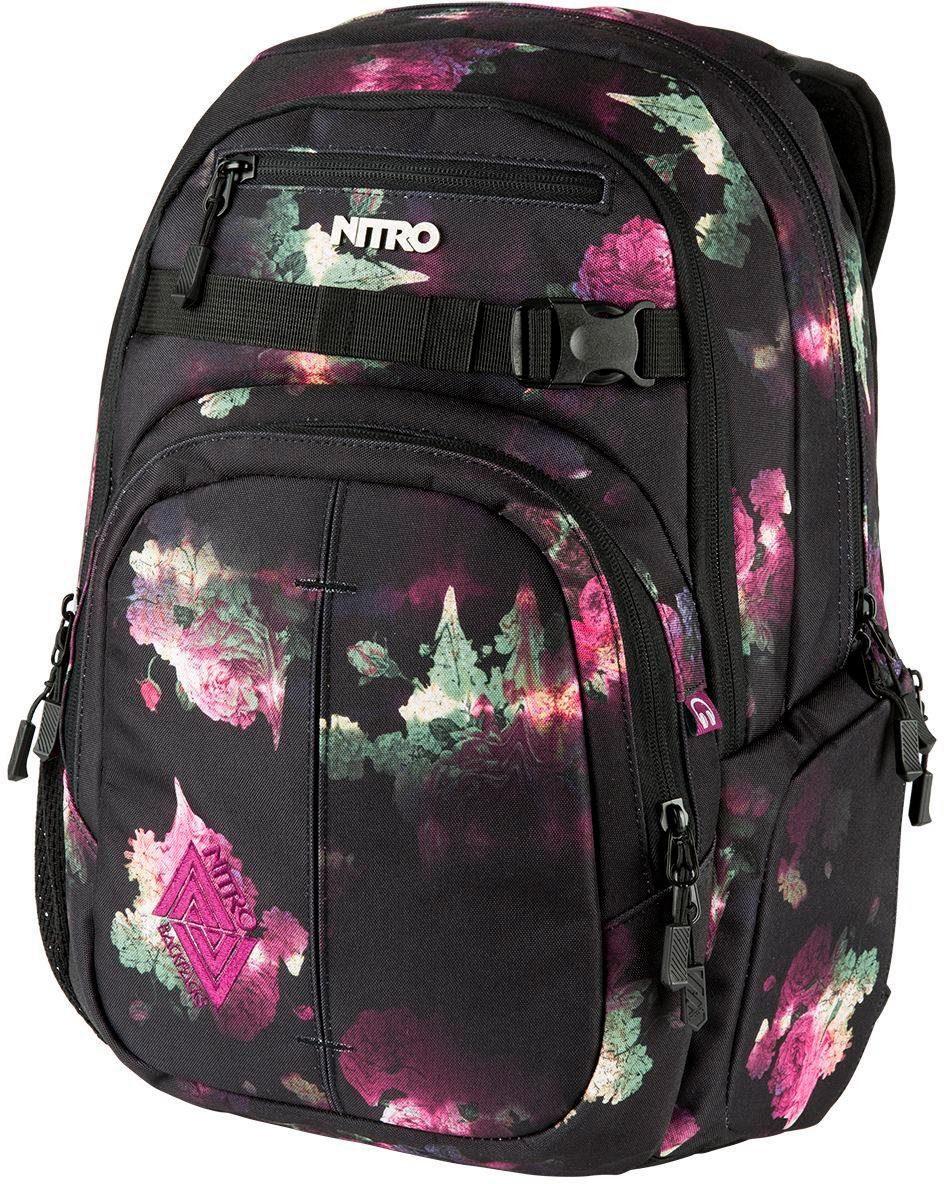 Nitro Schulrucksack mit Laptopfach, »Chase Black Rose«