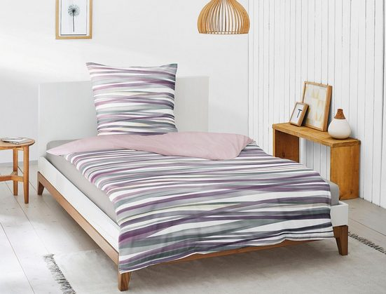Bettwäsche »Luna 8044«, Irisette, mit aufregenden Streifen