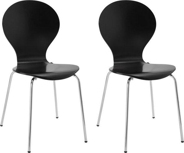 my home Stuhl »Modena« im 2er oder 4er Set, mit schönem Metallgestell, in unterschiedlichen Farben, Sitzhöhe 47 cm