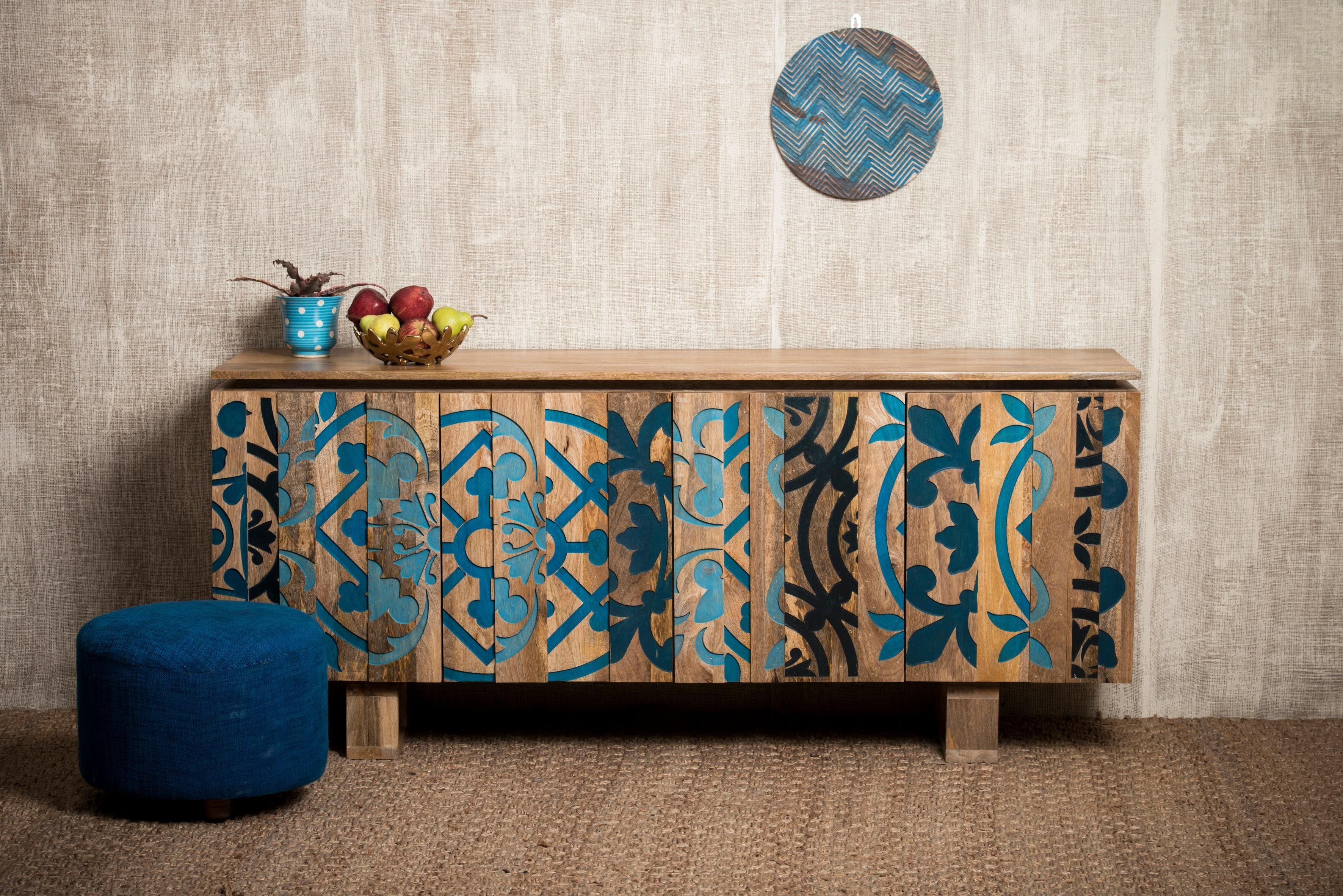 Home affaire Sideboard »Layer« mit 4 sehr schöne dekorative Türen, Breite 177 cm