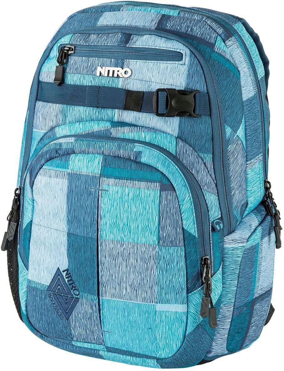 Nitro Schulrucksack mit Laptopfach, »Chase Zebra Ice«