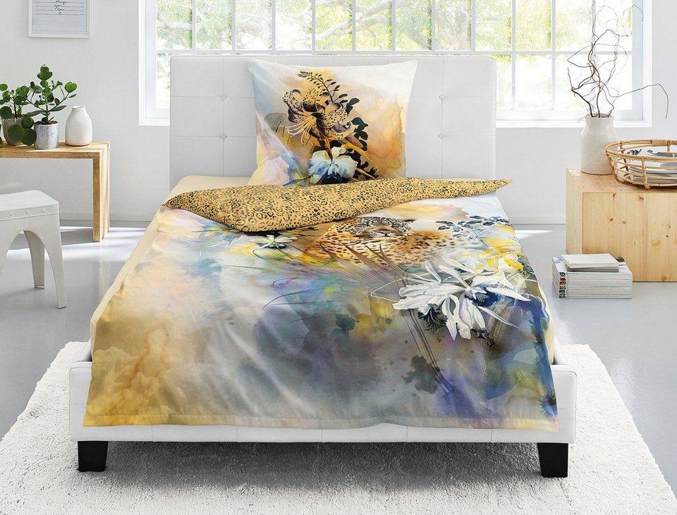 bettw sche opal 8890 irisette mit leopardenmuster. Black Bedroom Furniture Sets. Home Design Ideas