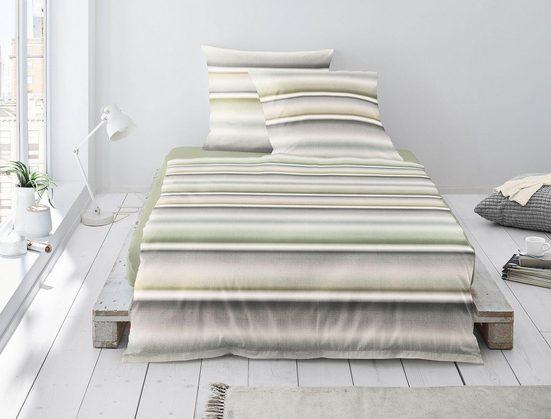 Bettwäsche »Davos 8016«, Irisette, mit schönen Querstreifen