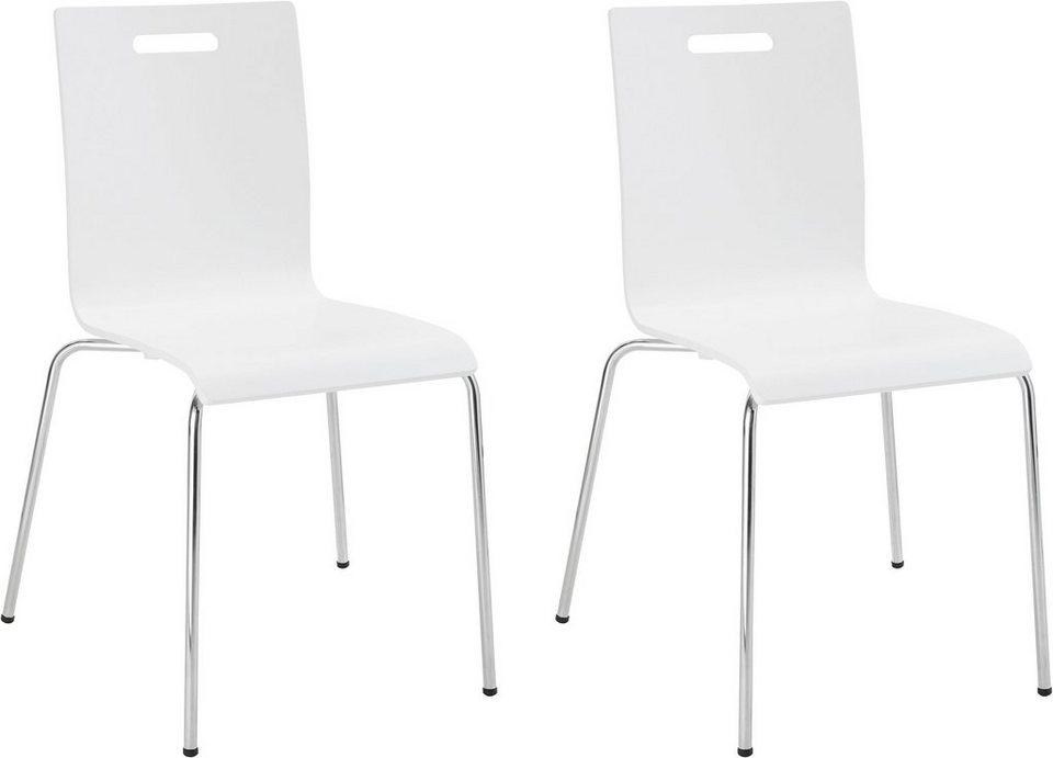 my home Stuhl »Sanaga« im 2er Set, mit schönem Metallgestell, aus ...